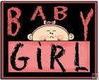 REF140 - Pink Baby Girl Word Art