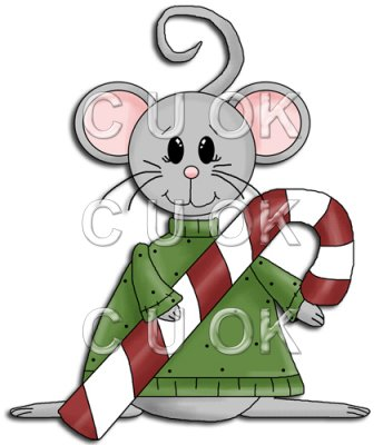 REF772 - Christmas Mouse With Candy