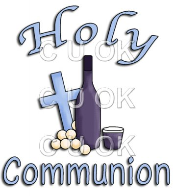 REF513 - Holy Communion Christening Blue Word Art