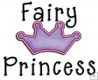 REF526 - Fairy Tale Princess Fairy Princess Crown Word Art