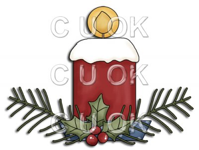 REF828 - Christmas Candle Arrangement