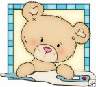 Peek A Boo Bears Medical Squares 4