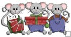 REF761- Christmas Mice With Presents