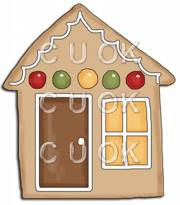 REF666 - Christmas Gingerbread House Cookie