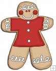 REF667 - Christmas Gingerbread ManCookie