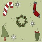 REF654 - Christmas Angel Background Tile