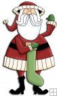 REF712- Christmas Santa With Stocking