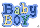 REF174 - Baby Boy Word Art