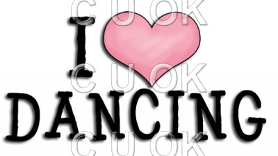 REF216 - I Love Dancing Word Art