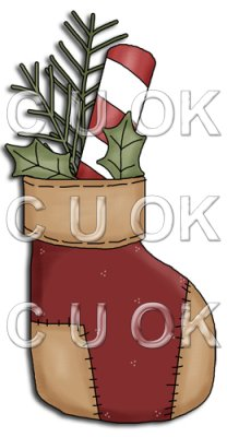 REF827 - Christmas Arrangement In Stocking