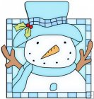 Let It Snow Squares 6 - Snowman