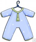 REF176 - Blue Baby Grow Romper Suit