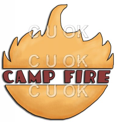 REF353 - Camp Fire Word Art