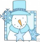 Let It Snow Squares 12 - Snowman