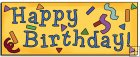 REF291 - Happy Birthday Banner Word Art