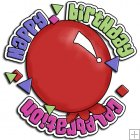 REF255 - Happy Birthday Circle Word Art