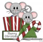 REF757- Merry Christmas Mice In Box