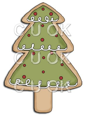 REF677 - Christmas Tree Cookie