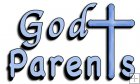 REF509 - Holy Communion Christening Blue God Parents Word Art