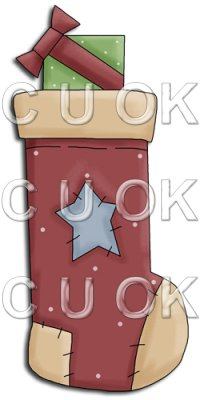 REF700- Christmas Stocking With Star