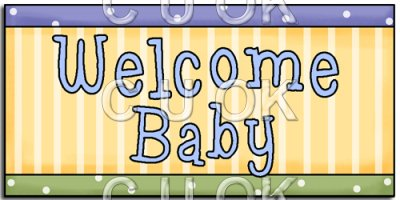 REF186 - Welcome Baby Word Art