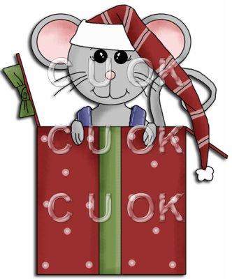 REF768 - Christmas Mice In Box