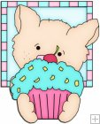 Doggy Squares Cupcake 6