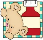 Peek A Boo Bears Medical Squares 6