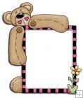 REF322 - Button Bear Holding A Frame