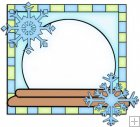 Let It Snow Squares 13 - Snow Globe