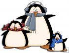 REF722- Christmas Family Penguins