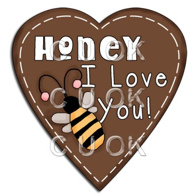 REF418 - Honey I Love You Heart Word Art