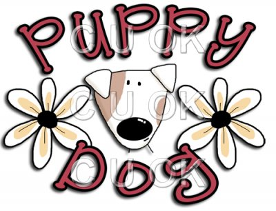 REF350 - Puppy Dog Word Art