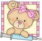 Peek A Boo Bears Medical Squares 2