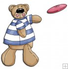 REF234 - Bear Throwing A Frisbee