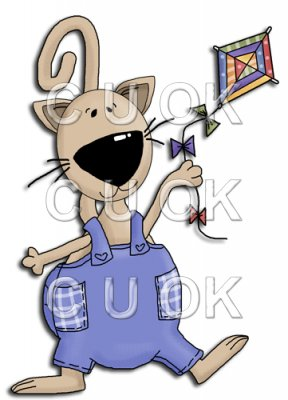 REF336 - Cat Flying A Kite
