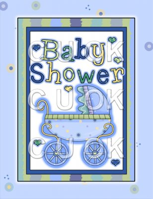 REF183 - Blue Shower Card