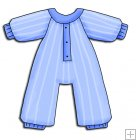 REF177 - Blue Baby Grow Romper Suit