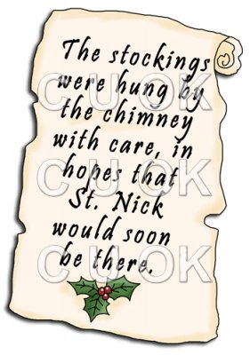 REF706- Christmas Stocking Letter