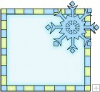 Let It Snow Squares 9 - Snowflake