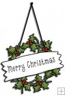 REF658 - Christmas Angel Merry Christmas Wreath Sign