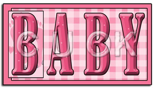 REF133 - Pink Baby Word Art - Click Image to Close