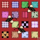 REF310 - Bumble Bee Background Tile