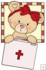 Peek A Boo Bears Medical Squares 9