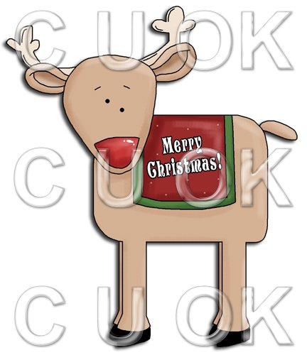REF711- Christmas Reindeer - Click Image to Close