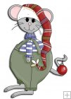 REF780- Christmas Mouse In Hat
