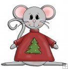 REF771 - Christmas Mice In Jumper