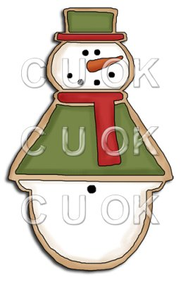 REF673 - Christmas Snowman Cookie
