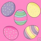 Little Easter Bunnies 12 - Background Tiles