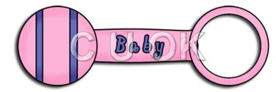 REF159 - Pink Baby Rattle